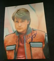 MICHAEL J FOX SIGNED 11X14 PHOTO BACK TO THE FUTURE MARTY MCFLY B W/COAPROOF WOW