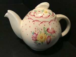 SUSIE COOPER  RARE PINK RED PRINTEMPS KESTREL BACHELOR TEA FOR ONE OR TWO TEAPOT