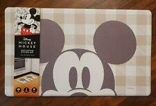 Disney Mickey Mouse Anti Fatigue Kitchen Mat 18 x 30 Padded Tan White Peek A Boo