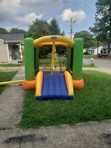 My First Jump N  Play Bounce House with Slide