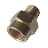 "2 pcs  Brass Fitting  Adapter 1/4"" Male NPT To  3/8"" Female NPT"
