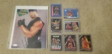 Hulk Hogan Signed 8x10 Photo and Card Lot!  7 cards!  Authentic!