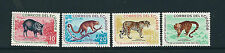 ECUADOR 1961 ANIMALS JAGUAR CUSUMBO etc (Scott 676-9) VF MNH