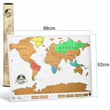 Twitfish Scratch World Map - Scratch off as you go along! 88 x 52 cm Tubed New