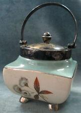 Sandland Ware Lancaster & Hanley England Jelly Jar w/ Sterling Spoon & SP Bail