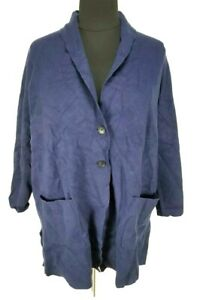 CHARTER CLUB Intrepid Blue Two Button Up Sweater Jacket  Women Plus Size 3X