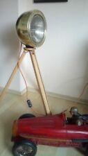 Loft Tripod Stativ Lampe Messing Brass Scheinwerfer Industrie Vintage Classic