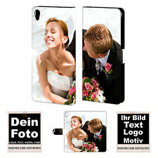 Sony Xperia C6 Handy Tasche Hülle eigene Foto Bild Druck Schutzhülle Photo Print