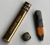 Vintage Eberhard Faber Pocket Pencil Early Circle Clamp Eraser Heirloom  USA
