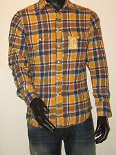 REPLAY Western Shirt Langarm Größe M gelb Replay USA Los Angeles NEU UM214