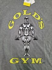 Golds Gym Logo Men's RETRO T-Shirt OFFICIALLY LICENSED Classic NEW WITH TAGS