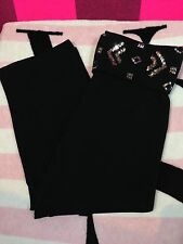Victoria's Secret PINK Bling Sequin Yoga Crop Cropped Pants Small S NEW