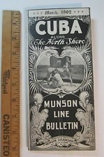 RARE - Munson Steamship Line - 1902 CUBA Timetable Travel Bulletinw Maps etc.