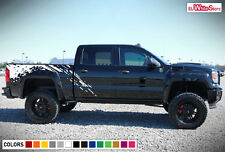 Decal Sticker Graphic Vinyl Side Bed Mud Splash Kit for GMC Sierra 1500 Offroad