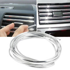 6m U Style Chrome Air Conditioner Outlet Vent Trim Grille Strip Roll Car Auto