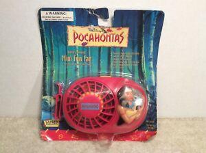 Disney's Pocahontas Battery Powered Mini Fun Fan by Janex Vintage 1995