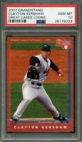 2007 grandstand great lakes loons CLAYTON KERSHAW dodgers rookie card PSA 10