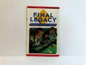 Final Legacy Atari MANUAL ONLY Original