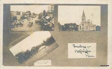c910 Maple Lake Minnesota Multi View Street Church RPPC Real Photo postcard 8249