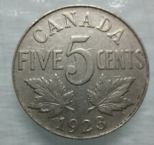1923 CANADA 5¢ KING GEORGE V NICKEL COIN