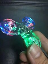 Transparent LED Light UP EDC Fidget Hand Spinner Stress Reducer Finger Desk Toys