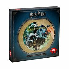 Harry Potter Round Jigsaw Puzzle - Magical Creatures (500 Pieces)