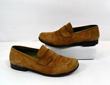 Donald J. Pliner Brown Suede Leather Womens Loafers Size 8.5M Made in Italy