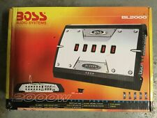 Boss Audio 2000 Watt, Blade Series 4-Channel Amplifier (BL-2000) New Old Stock