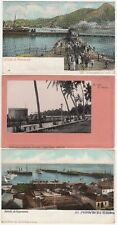 Venezuala South America 3 Mailed Early Undivided Back Printed Postcards c.1904