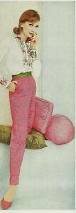 1960s Vintage VOGUE Sewing Pattern Shirt & Slacks Pants (1924)