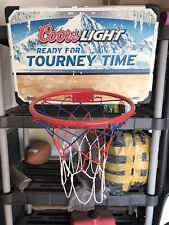 Coors light beer Basketball full size backboard hoop net Promotional Man Cave