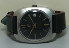 Vintage Favre Leuba Auto Date MENS WATCH R375 old used Antique