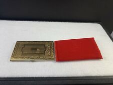 Gold Tone Business Card Holder (1375)