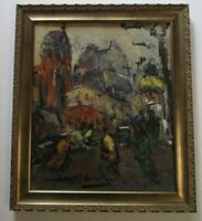 GEORGES BERGER PAINTING MID CENTURY MODERN PARIS FRANCE ABSTRACT EXPRESSIONISM