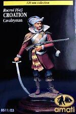 q Figurino AMATI 120 mm - Cavalleggero CROATO (Battaglia di Rocroi, 1643)