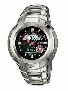 Casio G-Shock Retrograde Cockpit Series Anadigi Stainless Black Dial Watch