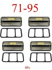 71 95 Chevy Van 4Pc Deluxe Clear Side Lights G10 G20 G30 GMC Front & Rear Kit