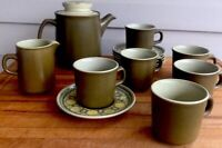 Franciscan Pottery Stoneware Ceramic Mid Century Modern Reflections Teapot Set