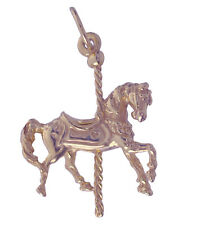 New Merry-Go-Round Carnival Fair Horse ride 18k Rose Gold Plated charm Carousel