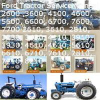 Ford Tractor 2600 thru 7700, 2610 thru 7710, 3230 thru 4630, Service Manual CD !