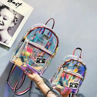 Summer Girls Clear Backpack Transparent Personality Knapsack Satchel Schoolbag