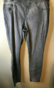 NWT Girls Justice Mid Rise Legging Soft & Stretchy Light Gray Jeans