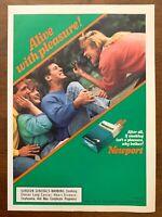 1990 Newport Cigarettes Vintage Print Ad/Poster Fun Retro Pop Art Bar Décor