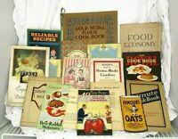 17 Antique Cookbooks Advertising Recipe Books 1915-1934 List In Description