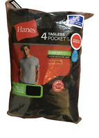 4 pack hanes mens pocket t shirt choose your size & color