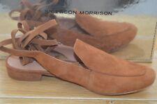 NIB SIGERSON MORRISON Womens N. BENA Cognac Joy Suede Tie Up Flat Size 8 EUR 38