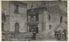 CARTOLINA VIAGGIATA (1923) _ TAORMINA  / PIAZZA , FONTANA, LAVATOIO_ ED. D'AGATA