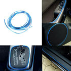 5M NEW AUTO ACCESSORIES CAR Universal Interior Decorative Blue Strip CHROME Shin