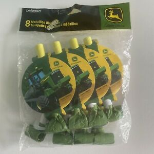 JOHN DEERE Tractor Party Supplies BLOWOUT FAVOR TOYS (Birthday, Retirement)