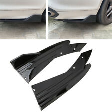 2x Glossy Black Car Rear Bumper Spoiler Lip Splitter Diffuser Universal Body Kit